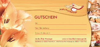 Aroka Thai Massage-Gutschein